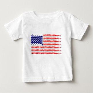 Bicycle Chain Flag USA Baby T-Shirt