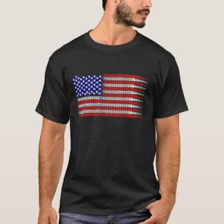 Bicycle Chain Flag USA T-Shirt