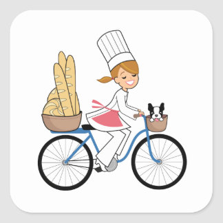 Bicycle Chef Art Sticker
