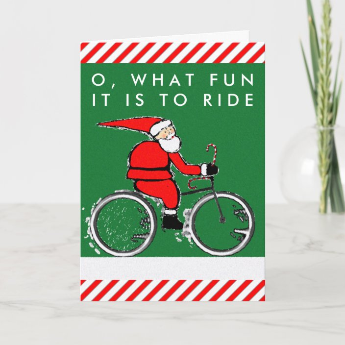 Bicycle Christmas Cards Zazzle Com