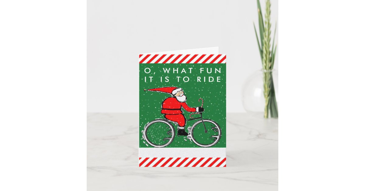 bicycle Christmas cards | Zazzle.com