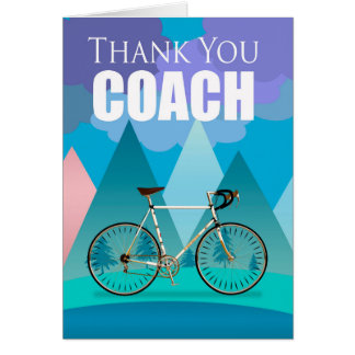 Bicycle Coach Thank You, Modern Landscape, Card