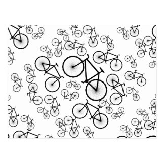Bicycle Collage Postcard