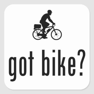 Bicycle Cop Square Sticker