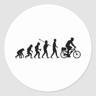 Bicycle Cop Round Stickers