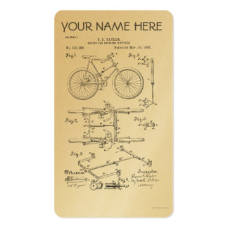 BICYCLE COUPLER PATENT _ CIRCA 1906 BUSINESS CARD