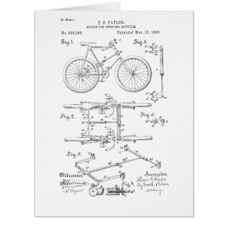 BICYCLE COUPLER PATENT _ CIRCA 1906 CARD