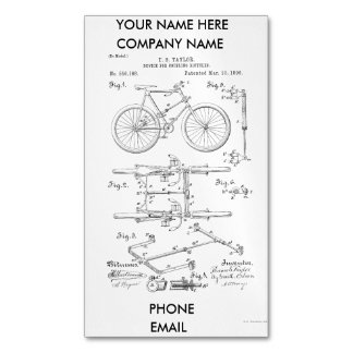 BICYCLE COUPLER PATENT _ CIRCA 1906 MAGNETIC BUSINESS CARD