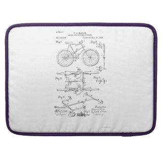 BICYCLE COUPLER PATENT _ CIRCA 1906 SLEEVE FOR MacBooks