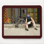 Bicycle Courier Messenger Cycle Bicycling Cycling Mousepads