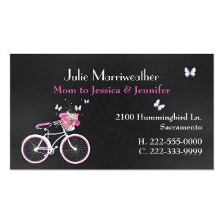 Bicycle Custom Mommy Card de señora bonita Tarjetas De Visita