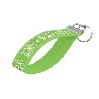 Bicycle custom monogram wrist key chain wrist keychain
