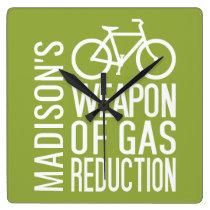 Bicycle custom name & color wall clock