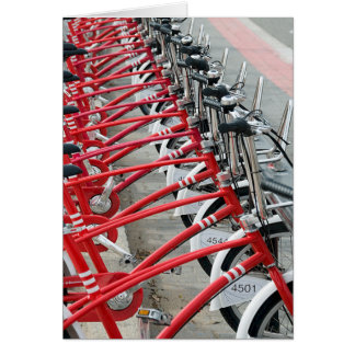 Bicycle Cycle Bicycling Cycling Barcelona Spain Greeting Card