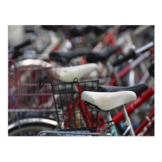 Bicycle Cycle Bicycling Cycling Bike Racks Postcard