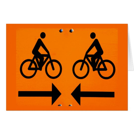 Bicycle Cycle Bicycling Cycling Finland Sign Card