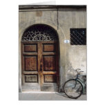 Bicycle Cycle Bicycling Cycling Italy Building Greeting Card
