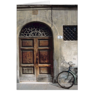 Bicycle Cycle Bicycling Cycling Italy Building Card