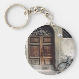 Bicycle Cycle Bicycling Cycling Italy Building Keychain