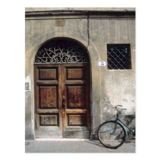 Bicycle Cycle Bicycling Cycling Italy Building Postcard