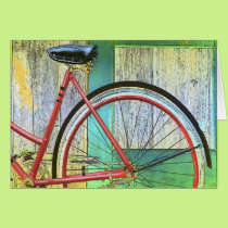 Bicycle Cycle Bicycling Cycling Old Shed Card
