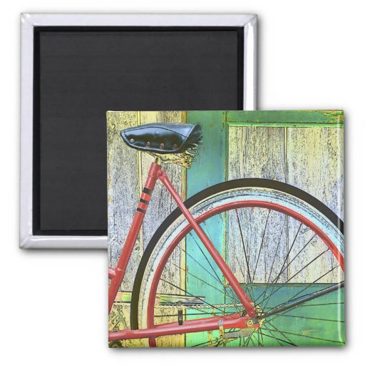 Bicycle Cycle Bicycling Cycling Old Shed Magnets