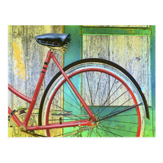 Bicycle Cycle Bicycling Cycling Old Shed Postcard