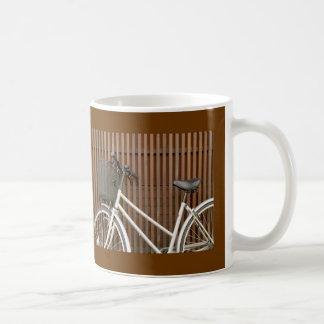 Bicycle Cycle Bicycling Cycling On Fence Coffee Mug