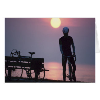Bicycle Cycle Bicycling Cycling Quebec Canada Greeting Card