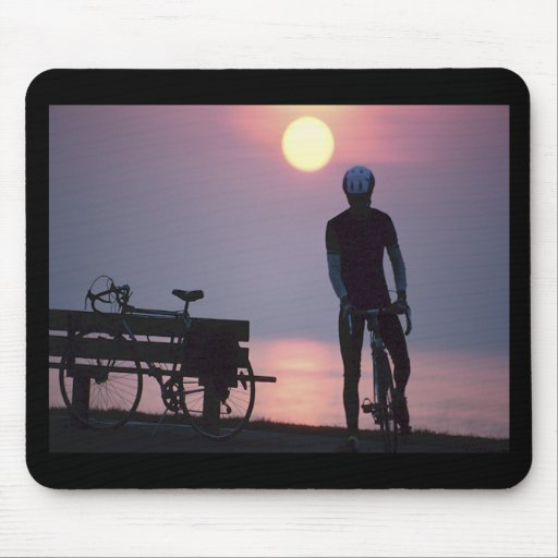 Bicycle Cycle Bicycling Cycling Quebec Canada Mouse Pad