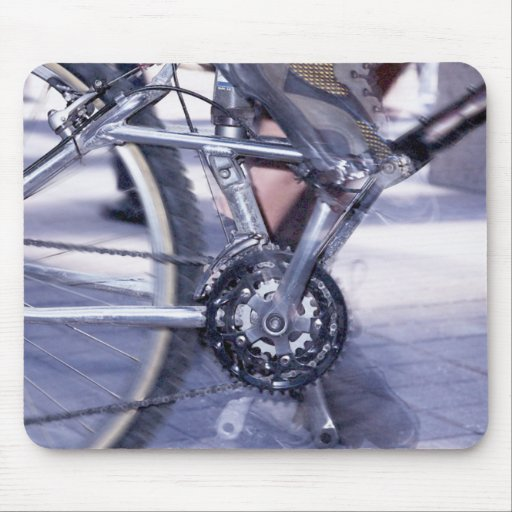 Bicycle Cycle Bicycling Cycling Rush Hour Mouse Pad