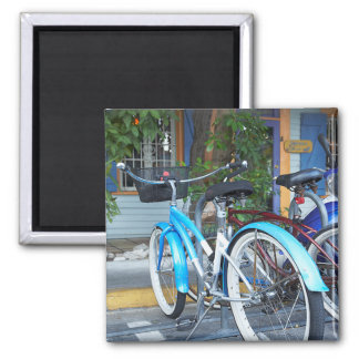 Bicycle Cycle Bicycling Cycling Shopping Miami 2 Inch Square Magnet