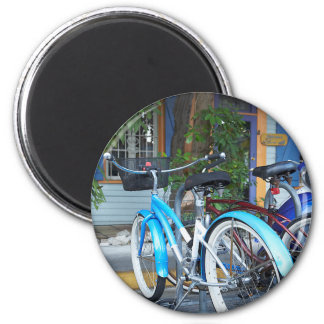 Bicycle Cycle Bicycling Cycling Shopping Miami 2 Inch Round Magnet