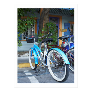 Bicycle Cycle Bicycling Cycling Shopping Miami Postcard