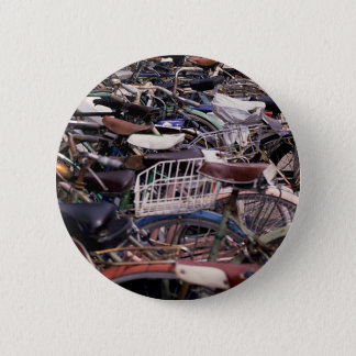 Bicycle Cycle Bicycling Cycling Venice Italy Pinback Button