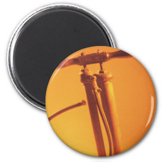 Bicycle Cycle Bicycling Cycling Vintage Tire Pump 2 Inch Round Magnet