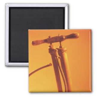 Bicycle Cycle Bicycling Cycling Vintage Tire Pump 2 Inch Square Magnet