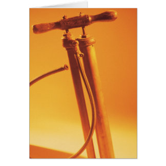 Bicycle Cycle Bicycling Cycling Vintage Tire Pump Card