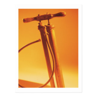 Bicycle Cycle Bicycling Cycling Vintage Tire Pump Postcard