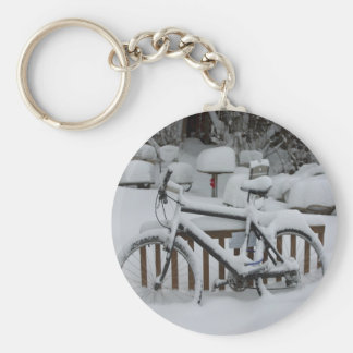 Bicycle Cycle Bicycling Cycling Waiting For Spring Basic Round Button Keychain