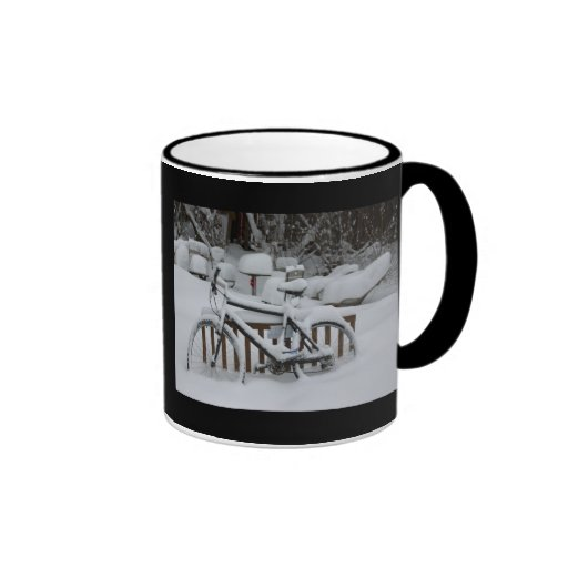 Bicycle Cycle Bicycling Cycling Waiting For Spring Ringer Coffee Mug