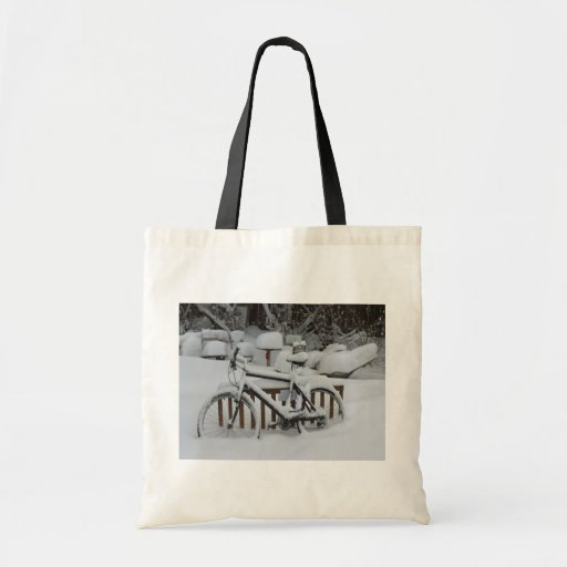 Bicycle Cycle Bicycling Cycling Waiting For Spring Tote Bag