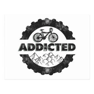 Bicycle Cycling Addicted Postcard
