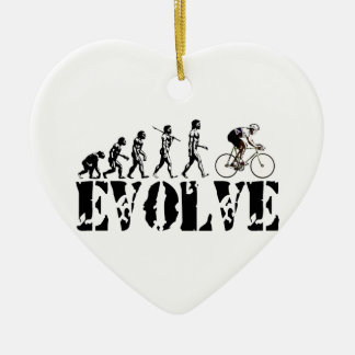 Bicycle Cycling Bike Riding Evolution Sports Art Ceramic Ornament