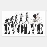Bicycle Cycling Bike Riding Evolution Sports Art Rectangular Sticker