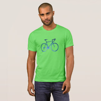 Bicycle Cycling T-Shirt, Northern Winter Lights T-Shirt