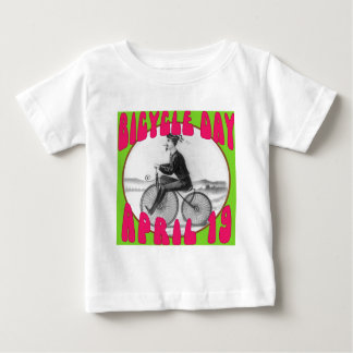 BICYCLE DAY April 19 Baby T-Shirt