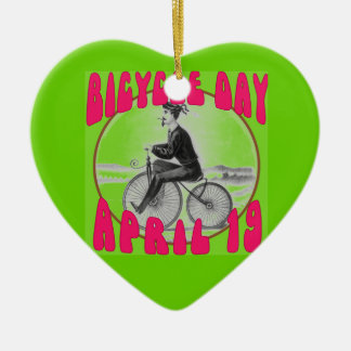 BICYCLE DAY April 19 Christmas Ornament
