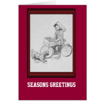 Bicycle delivery boy card