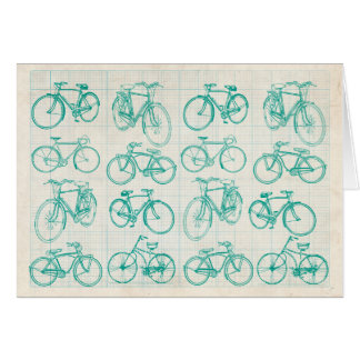 Bicycle design greeting card for any occasion